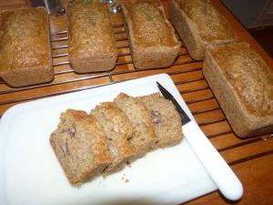 Made 6 mini loaves