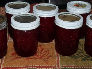 jars of strawberry preserve