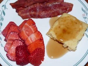 Pancake Squares Breakfast
