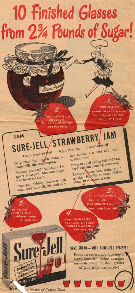 Vintage Sure-Jell Recipe
