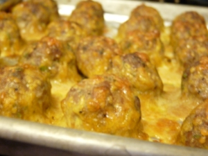 Turkey and Sausage Breakfast Balls 006