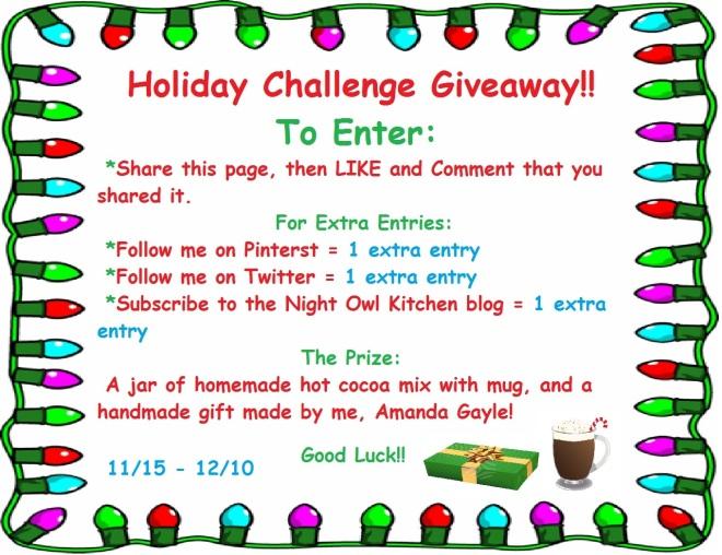 Holiday Challenge Giveaway 2013