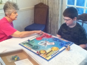 Playing Sorry with Nana Marty