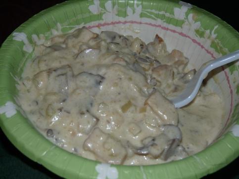 creamy chicken and mushroom alfredo 001