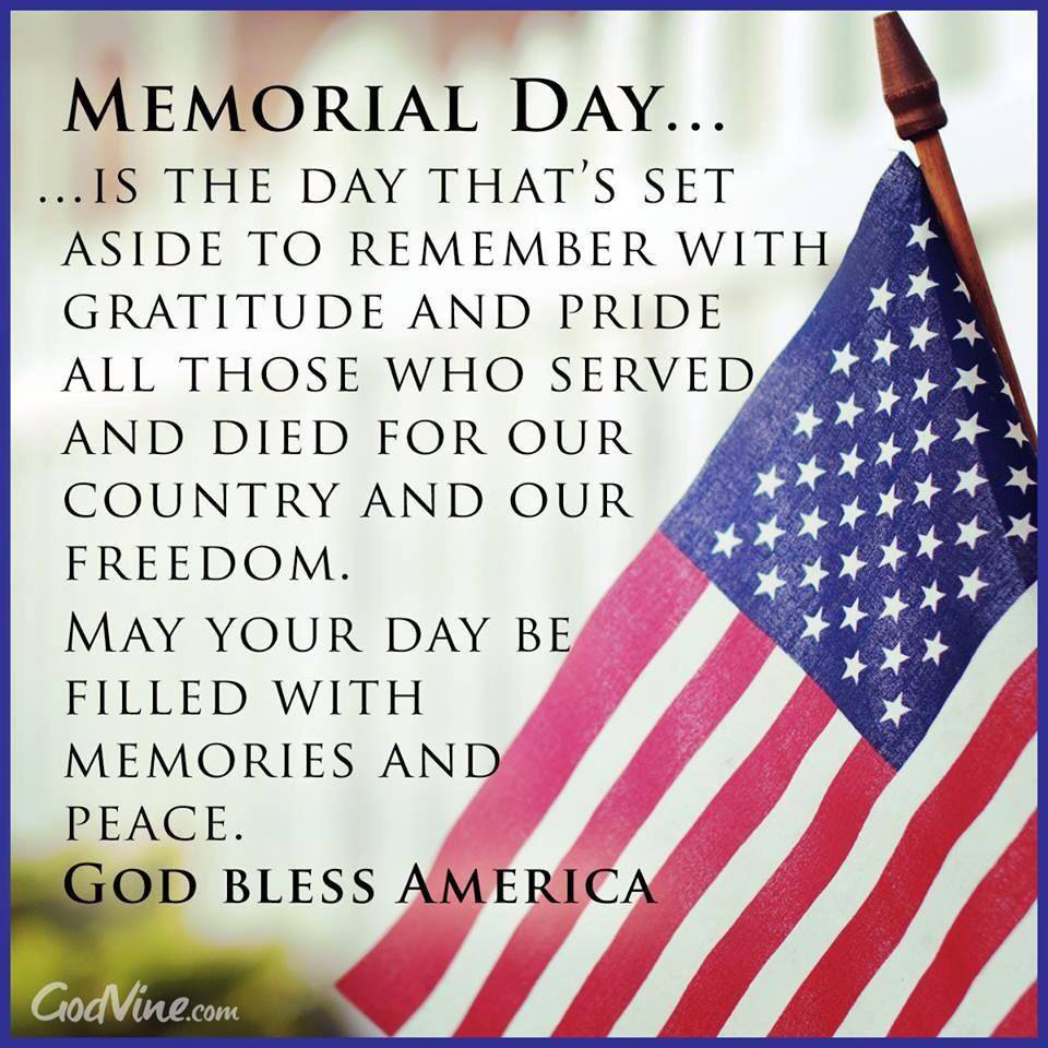 Memorial day a day of rememberance night owl kitchen for Decoration day